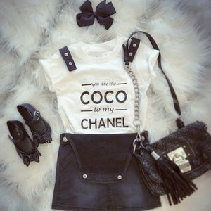 Coco to my Chanel Tshirt Kids